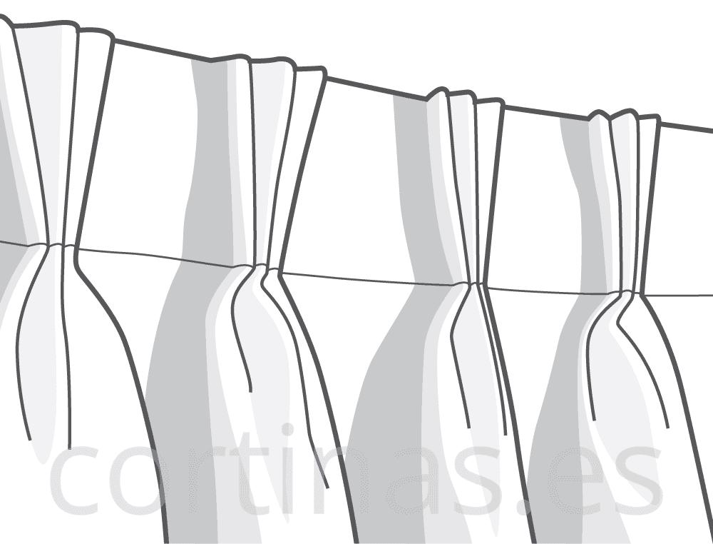 Confección tres pliegues